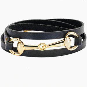 Bracelet- NEW-Leather Horse Snaffle Bit Equestrian